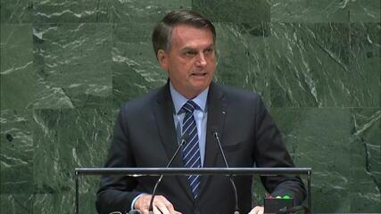Bolsonaro discursa na abertura da Assembleia Geral da ONU
