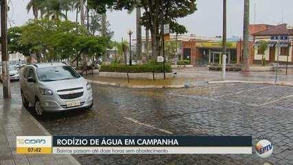 Copasa adota rodízio de abastecimento de água em Campanha
