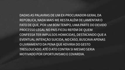 Gilmar Mendes responde declaração de Janot sobre plano de assassinato