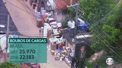 Roubo de cargas acontece principalmente nas periferias das grandes cidades