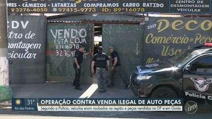 Polícia realiza operação contra venda ilegal de peças de veículos roubados na região