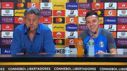 Confira a íntegra da coletiva de Renato Gaúcho e Pepê, após empate do Grêmio