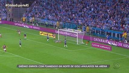 Grêmio empata com o Flamengo no primeiro jogo da semifinal da Libertadores