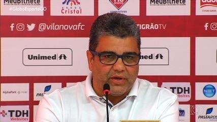 Marcelo Cabo é demitido do Vila Nova e mostra surpresa com decisão da diretoria