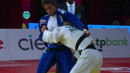 Rafaela Silva vence portuguesa Telma Monteiro e termina com o bronze no Grand Slam de Brasília de judô