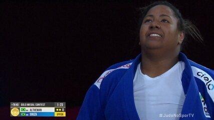 Beatriz Souza ganha de Maria Suelen Altheman e leva o ouro na final dos 78kg