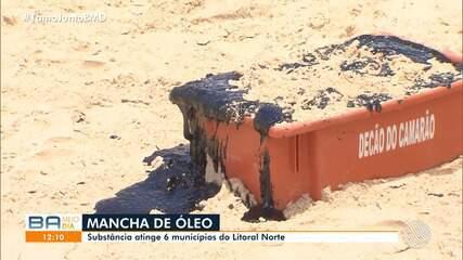 Manchas de óleo que se espalharam pelo Nordeste atingem novos pontos do litoral baiano