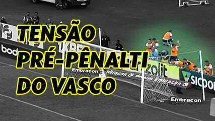 Confira a tensão dos reservas do Vasco antes do gol de pênalti de Yago Pikachu