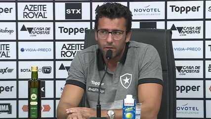 Confira a apresentação do técnico Alberto Valentim no Botafogo