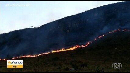 Incêndio destroi Parque da Chapada dos Veadeiros há uma semana