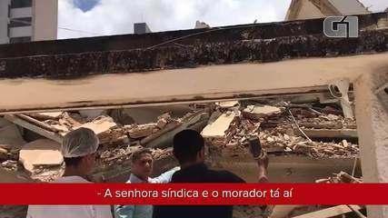 Vídeo mostra engenheiro logo após desabamento de prédio