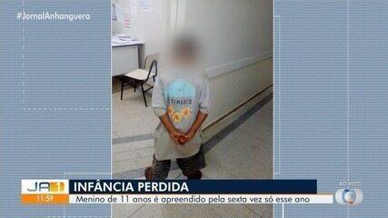 Menino de 11 anos é visto dirigindo carro roubado em Águas Lindas de Goiás