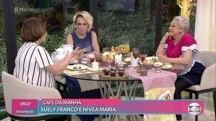 Nívea Maria e Suely Franco vivem as rivais Evelina e Marlene na novela das 9