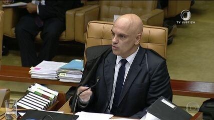 Ministro Alexandre de Moraes vota a favor da prisão de condenados em 2ª instância