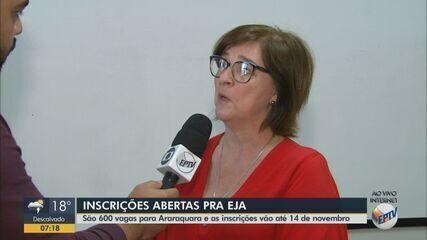 Araraquara tem inscrições abertas para 600 vagas no EJA