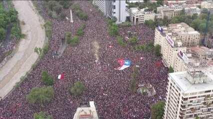 1 milhão de pessoas protestam contra o governo no Chile