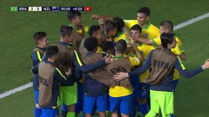 Os gols de Brasil 3 x 0 Nova Zelândia pelo Mundial sub-17