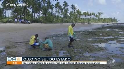 Manchas de óleo se espalham em Ilhéus e pescadores tentam minimizar prejuízos