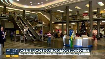 Infraero assina acordo com o Ministério Público Federal por acessibilidade em Congonhas