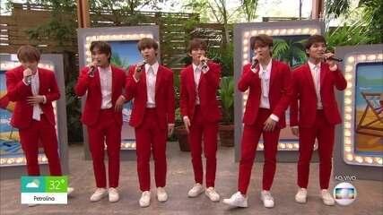 Sul-coreanos do Spectrum cantam sucesso da banda Melim