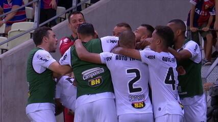 Os gols de Fortaleza 2 x 2 Atlético-MG pela 30ª rodada do Brasileirão