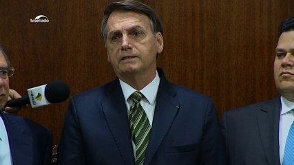 Jair Bolsonaro discursa na entrega do pacote econômico ao Congresso
