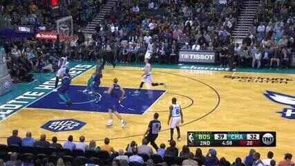 Melhores momentos: Charlotte Hornets 87 x 108 Boston Celtics, pela NBA