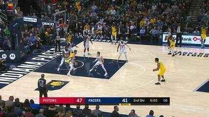 Melhores momentos: Detroit Pistons 106 x 112 Indiana Pacers pela NBA