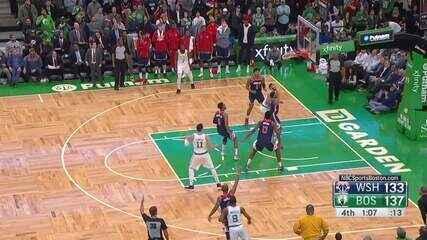 Melhores momentos: Celtics 140 x 133 Wizards pela NBA