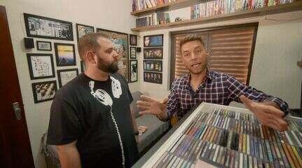 Rafael Ristow conhece um colecionador de CDs de novelas