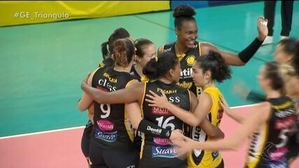 Praia Clube vence Curitiba Vôlei e mantém 100% na Superliga Feminina