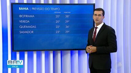 Confira a previsão do tempo em Salvador e interior do estado na terça-feira