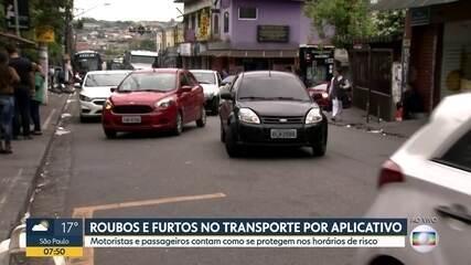 Maioria de roubos e furtos a motoristas de aplicativos acontece de madrugada em São Paulo
