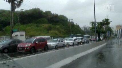 Chuva: saiba como está o trânsito em diversos pontos da capital baiana nesta terça-feira