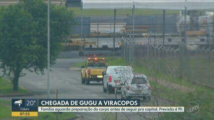Passageiros relatam tranquilidade na chegada do corpo do apresentador Gugu em Viracopos