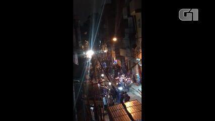 Vídeo mostra frequentadores de baile funk correndo em Paraisópolis