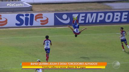 Bahia vence o CSA após ficar nove partidas sem ganhar no Campeonato Brasileiro
