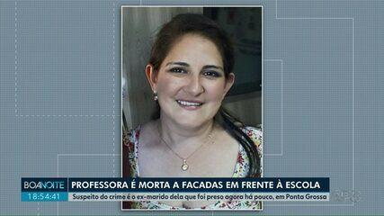 Professora é morta a facadas em frente à escola, em Ponta Grossa