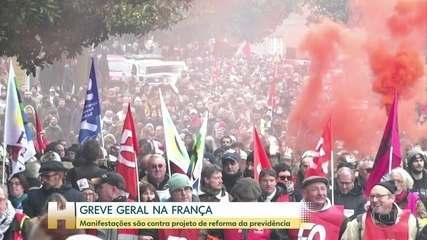 Greve geral afeta transporte, escolas e serviços públicos na França