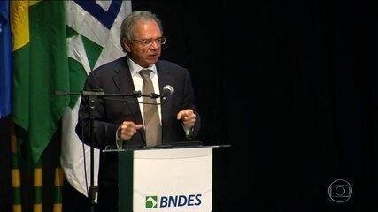 Saneamento será uma das prioridades do BNDES, anuncia Paulo Guedes