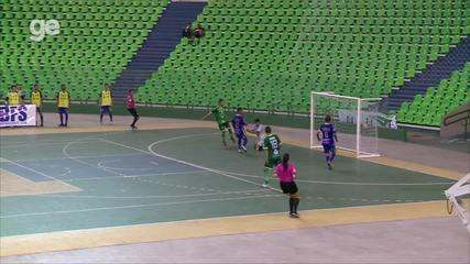 O gol de Campo Largo 1 x 0 AABB pela final do returno do Piauiense de futsal