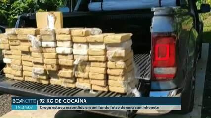 Quase 100 quilos de cocaína são apreendidos na BR-277 em Céu Azul