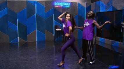 Veja o ensaio de Jonathan Azevedo e Tati Scarletti para semifinal do 'Dança dos Famosos'