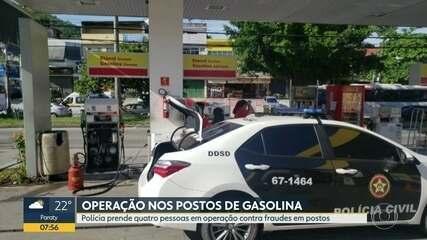 Polícia faz operação contra fraudes em postos de gasolina