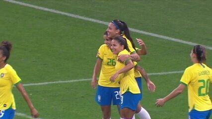 Os gols de Brasil 6 x 0 México em Amistoso Internacional de Futebol Feminino