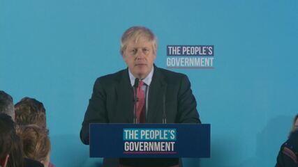 Partido de Boris Johnson vence com ampla maioria eleições no Reino Unido