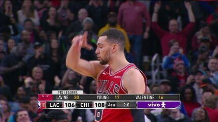 Melhores momentos de Chicago Bulls 108 x 106 Los Angeles Clippers