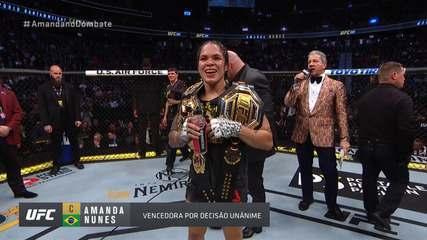 Melhores momentos de Amanda Nunes x Germaine de Randamie no UFC 245