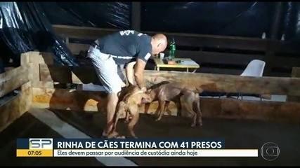 Polícia prende 41 pessoas em rinha de cães em Mairiporã