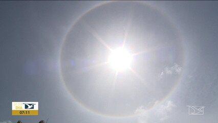 Fenômeno natural 'halo solar' chama atenção de moradores em Santa Inês e São Luís